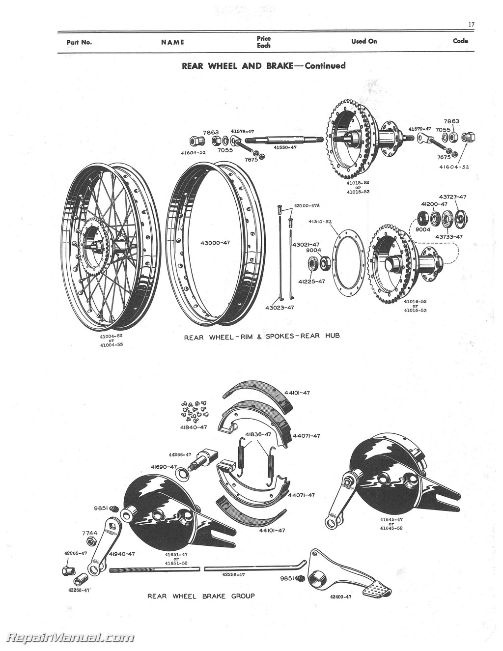125cc Engine Parts Diagram Wiring Schematic Start Building A Pit Bike Cdi Harley Davidson 125 165 1948 1953 Motorcycle Spare Manual Rh Repairmanual Com 110cc Mini Chopper Ssr