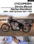 Harley-Davidson XL883 XL1200 Sportster 2004-2006 Cyclepedia Printed Motorcycle Manual_Page_1