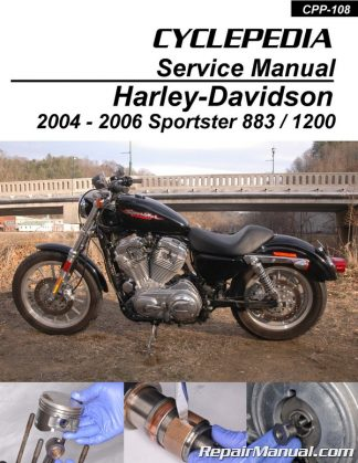 Harley-Davidson XL883 XL1200 Sportster 2004-2006 Cyclepedia Printed on