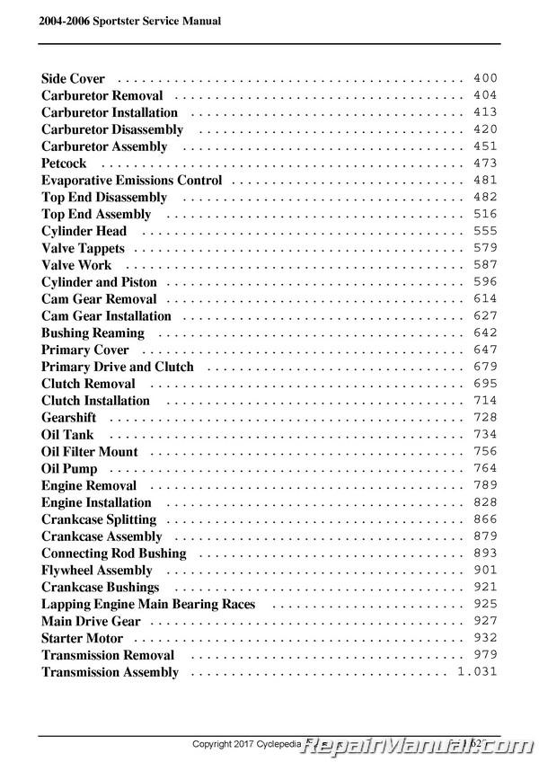 harley davidson xl 883 1200 service shop repair manual 2004 2009 free