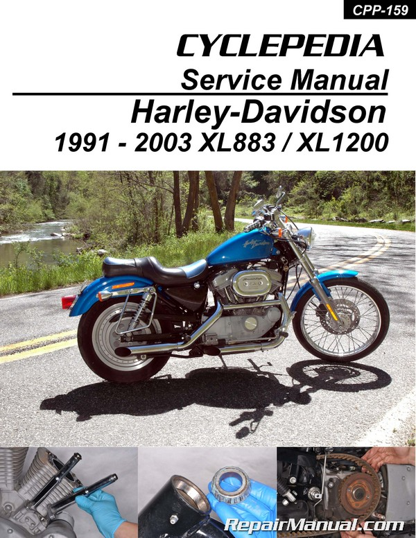 Harley-Davidson XL883 XL1200 Sportster Printed Cyclepedia Motorcycle Manual  1991-2003