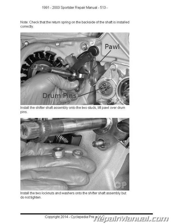 harley davidson xl883 xl1200 sportster printed cyclepedia motorcycle rh repairmanual com 2003 Sportster 883 Anniversary Edition 2003 harley sportster 883 service manual