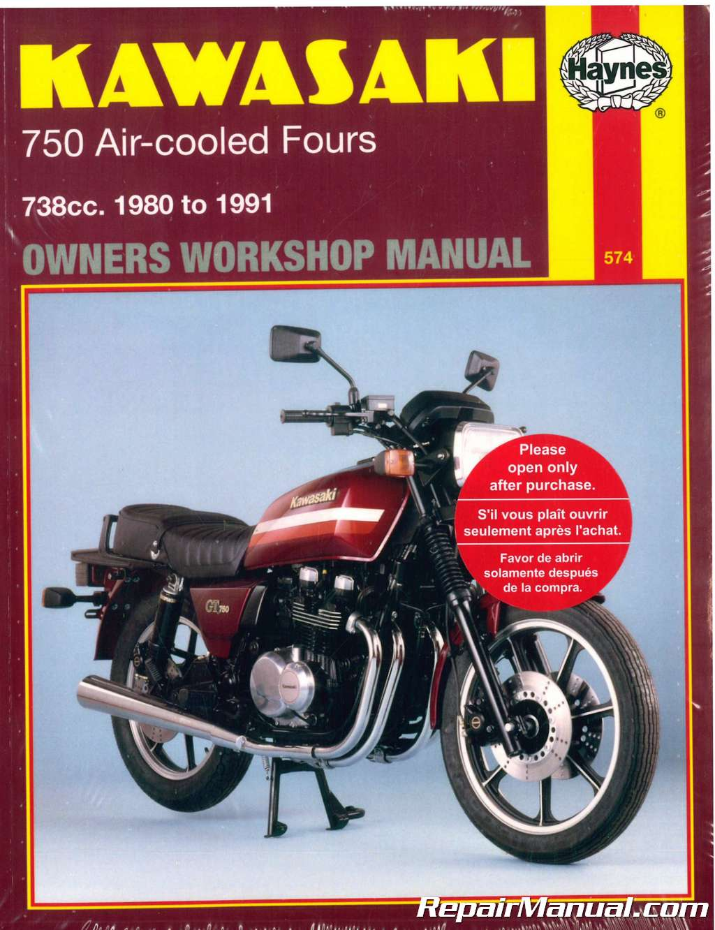 Haynes 1980-1991 Kawasaki KZ750 Z750 Air-Cooled Four Cylinder Motorcycle Repair  Manual
