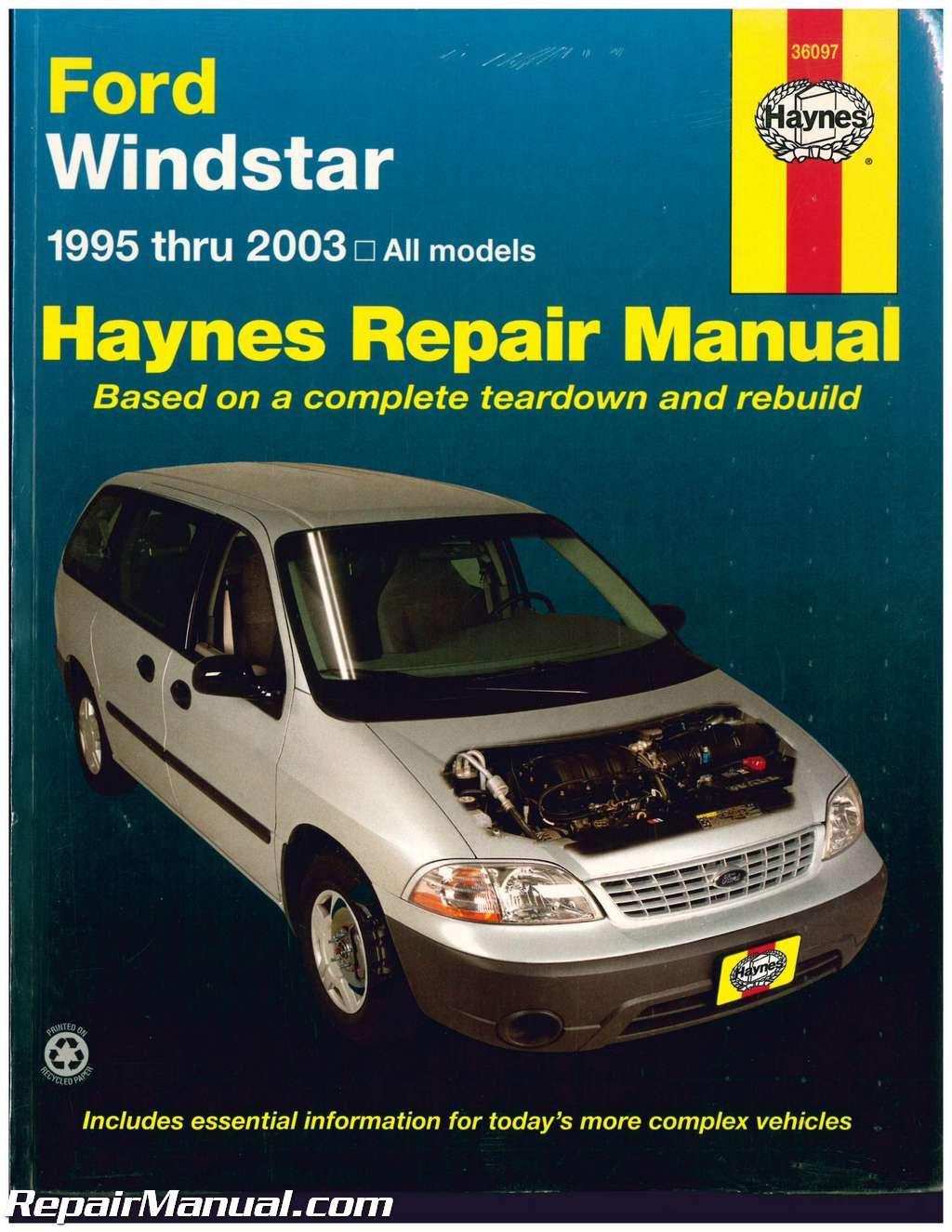 Haynes 1995 2003 Ford Windstar Mini Van Repair Manual