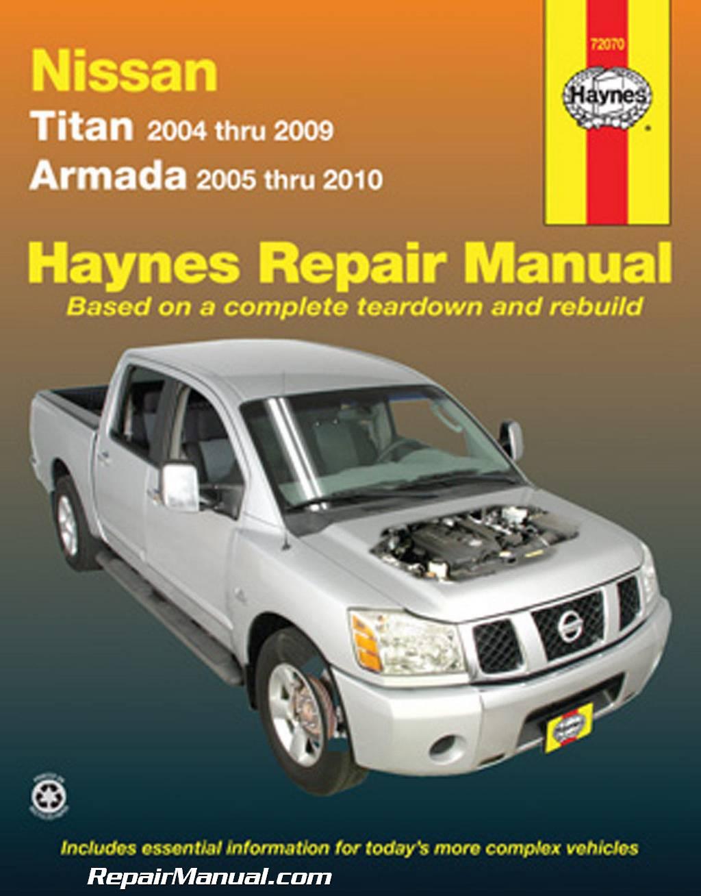 haynes 2004 2009 nissan titan 2005 2010 nissan armada auto repair manual rh repairmanual com 2010 Titan MPG 2010 Nissan Titan 4 Door