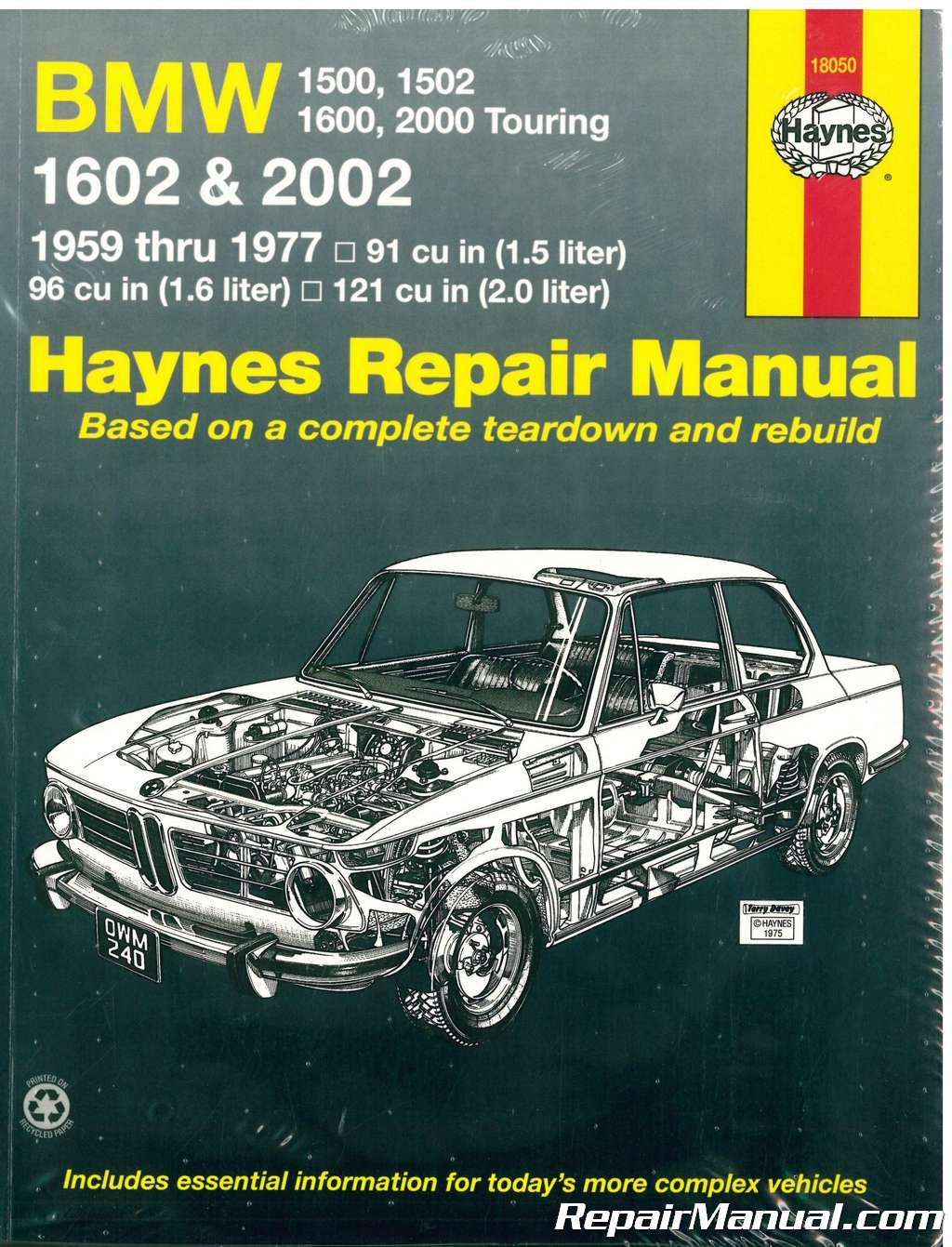 haynes bmw 1500 1600 2002 1959 1977 auto repair manual rh repairmanual com bmw 2002 workshop manual bmw 2002 repair manual pdf