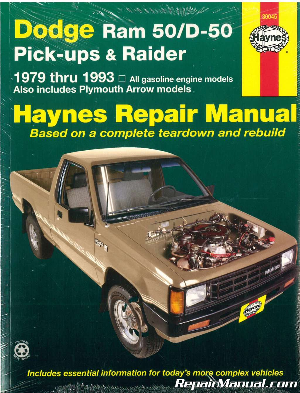 Haynes Dodge Ram 50 D50 Pick-up Raider and Plymouth Arrow Pick-up 1979-1993  Auto Repair Manual
