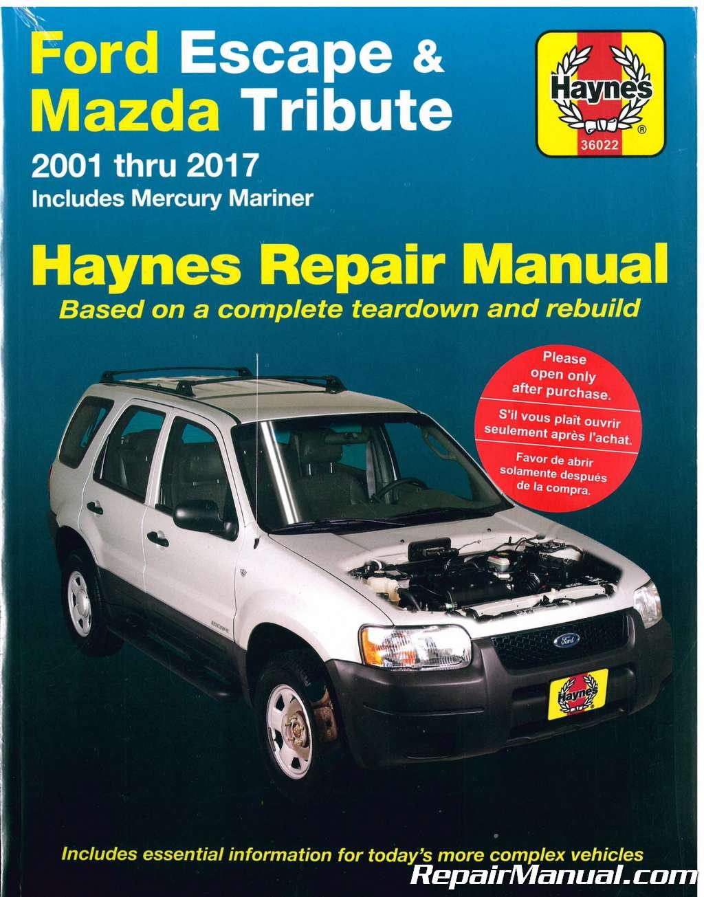 haynes ford escape  mazda tribute   repair manual