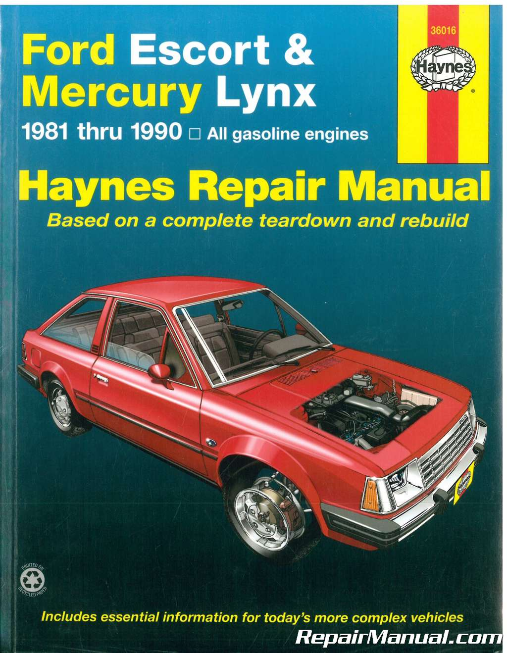haynes ford escort mercury lynx 1981 1990 auto repair manual rh repairmanual com Ford 600 Manual ford lynx ghia service manual