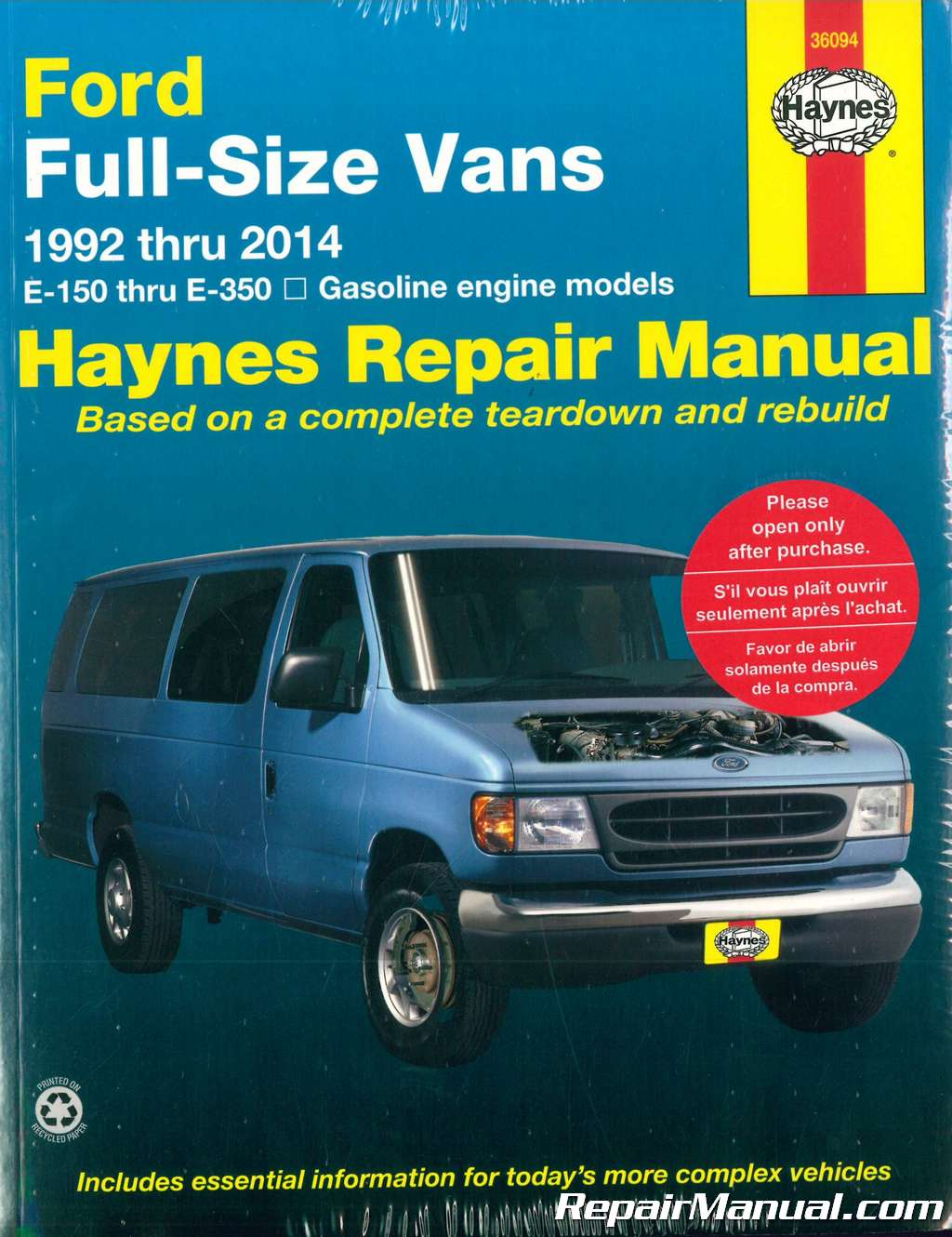 Haynes-Ford-Full-Size-Vans-1992-2014-Repair- ...