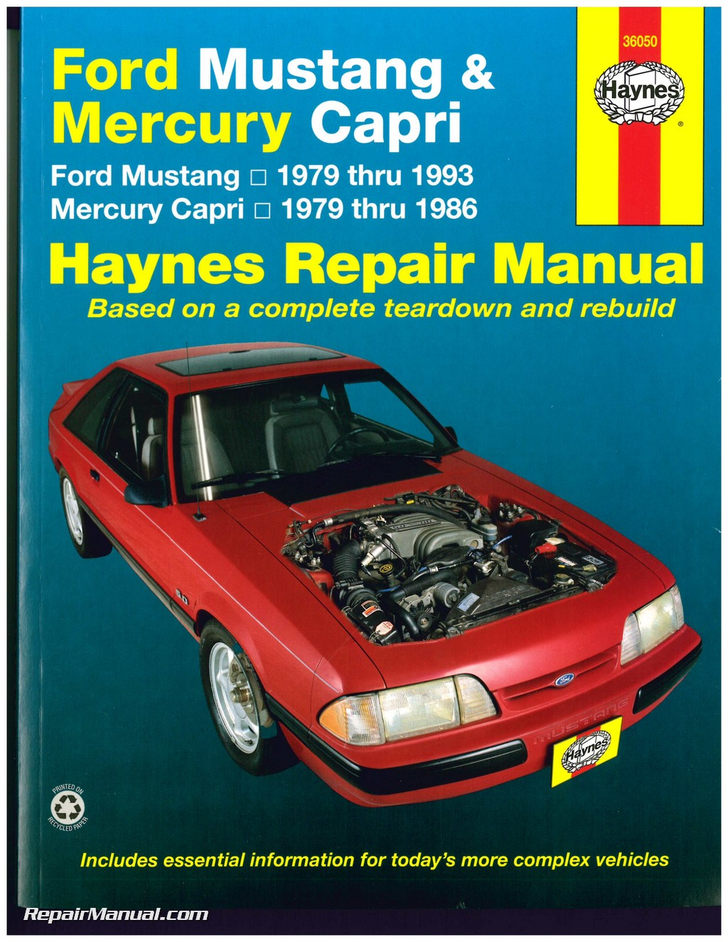 haynes ford mustang 1979 1993 mercury capri 1979 1986 auto repair manual rh repairmanual com ford capri workshop manual pdf ford capri workshop manual pdf free download