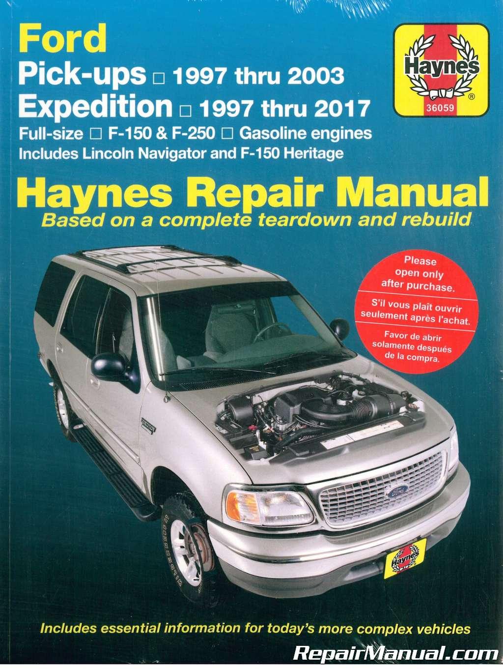 haynes ford pickup 1997 2003 expedition 1997 2017 repair manual rh repairmanual com 2005 Ford Factory Repair Manuals Chilton Repair Manual 2003 Ford Truck