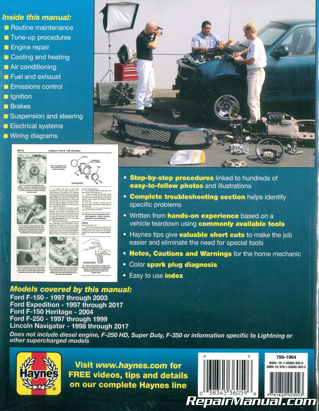 Haynes Ford Pickup 1997-2003 Expedition 1997-2017 Repair Manual