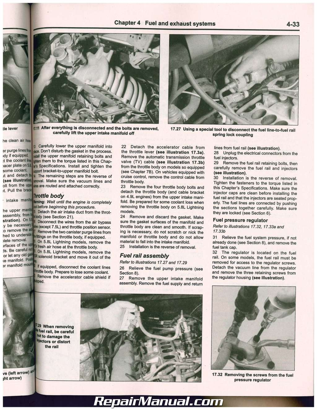 Ford Pickup Trucks Bronco 2wd 4wd 1980 1997 Haynes Auto Repair Manual Fuel Line