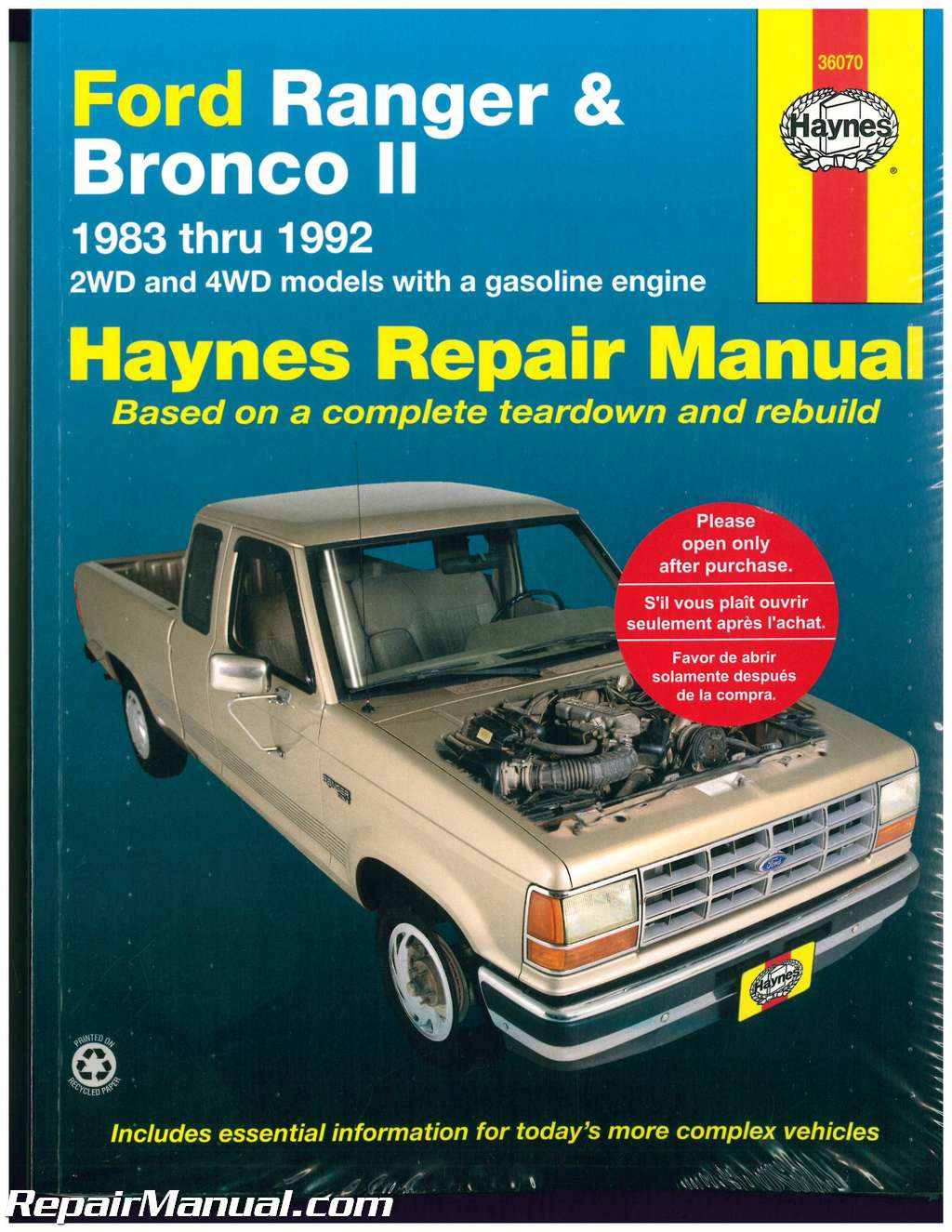 1987 ford ranger factory service manual