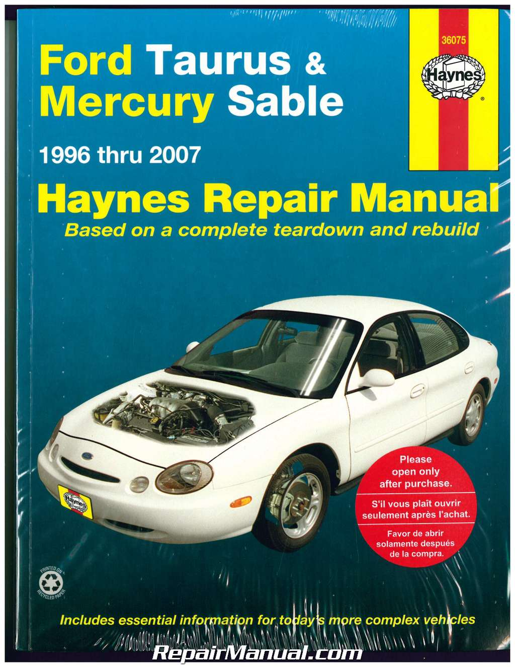 Haynes Ford Taurus Mercury Sable 1996-2007 Ford Repair Manual
