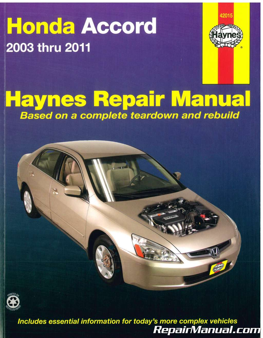 Haynes Honda Accord 2003 2011 Automotive Service Workshop