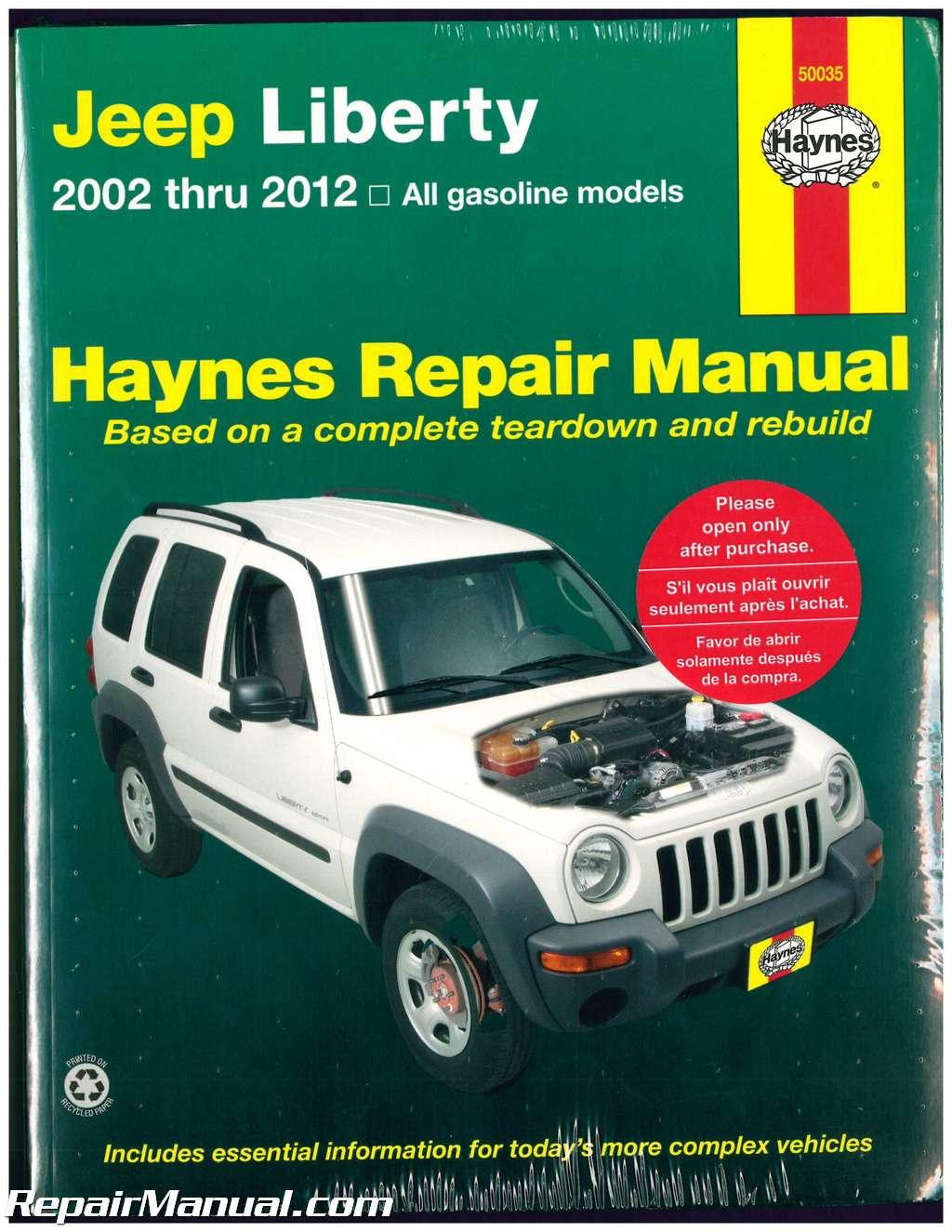 haynes jeep liberty 2002 2012 auto repair manual rh repairmanual com haynes repair manual jeep cherokee 1984 thru 2001 haynes repair manual jeep grand cherokee 1993 thru 2004