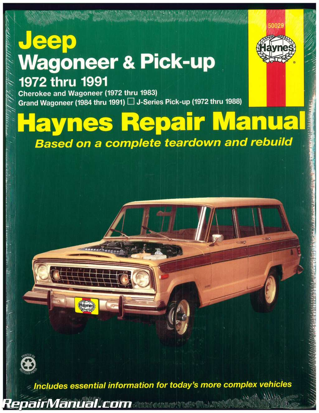 Haynes Jeep Wagoneer Grand Wagoneer Cherokee Pick-ups 1972-1991 Auto Repair  Manual