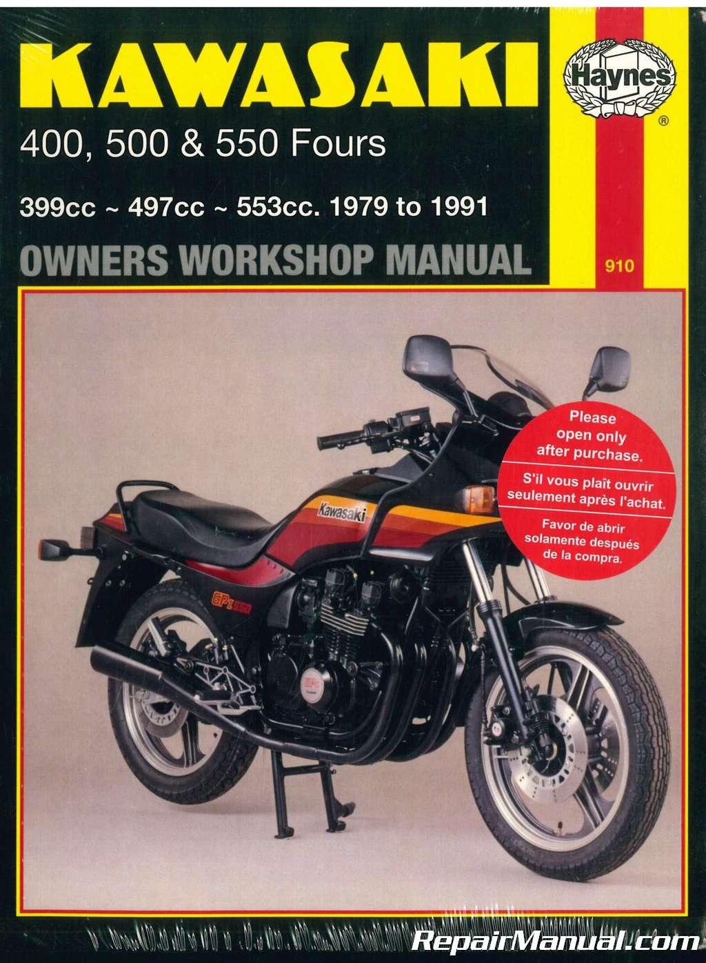 Haynes Kawasaki KZ Z ZR ZX 400 500 550 1979-1991 Motorcycle Owners Workshop  Manual