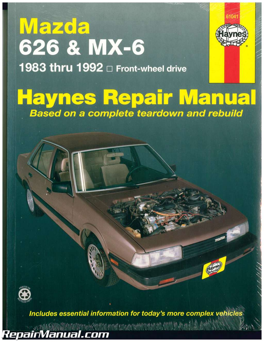 haynes mazda 626 mx 6 1983 1992 auto repair manual rh repairmanual com mazda  6 owners manual 2016 mazda 6 owners manual 2009