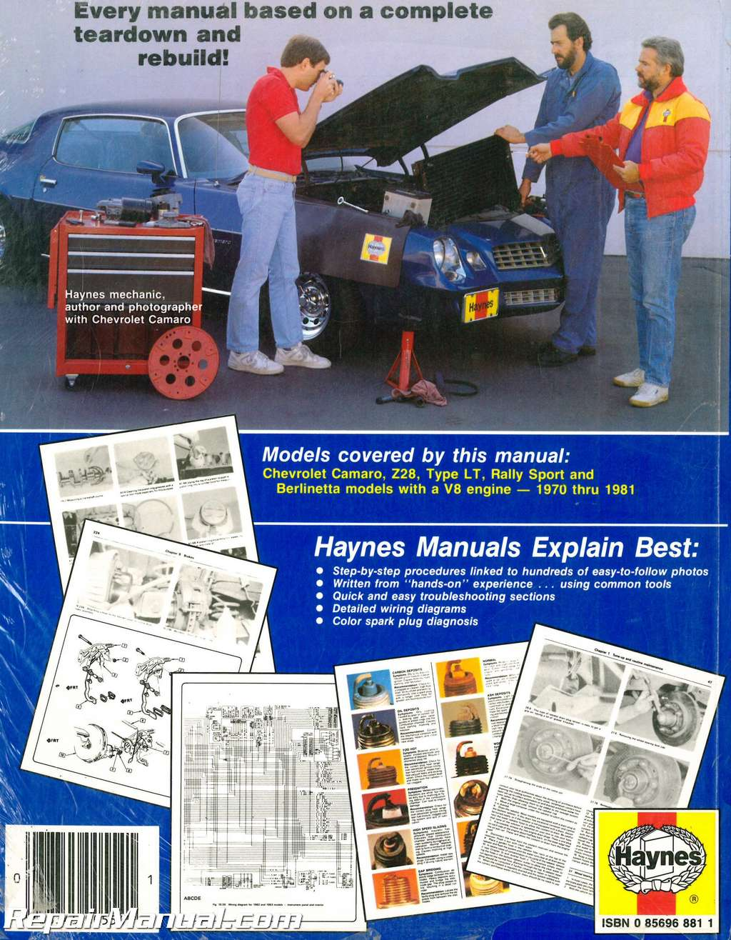 Haynes Owners Workshop Manual Chevrolet Camaro All Models 1970 1981 70 Z28 Wiring Diagram