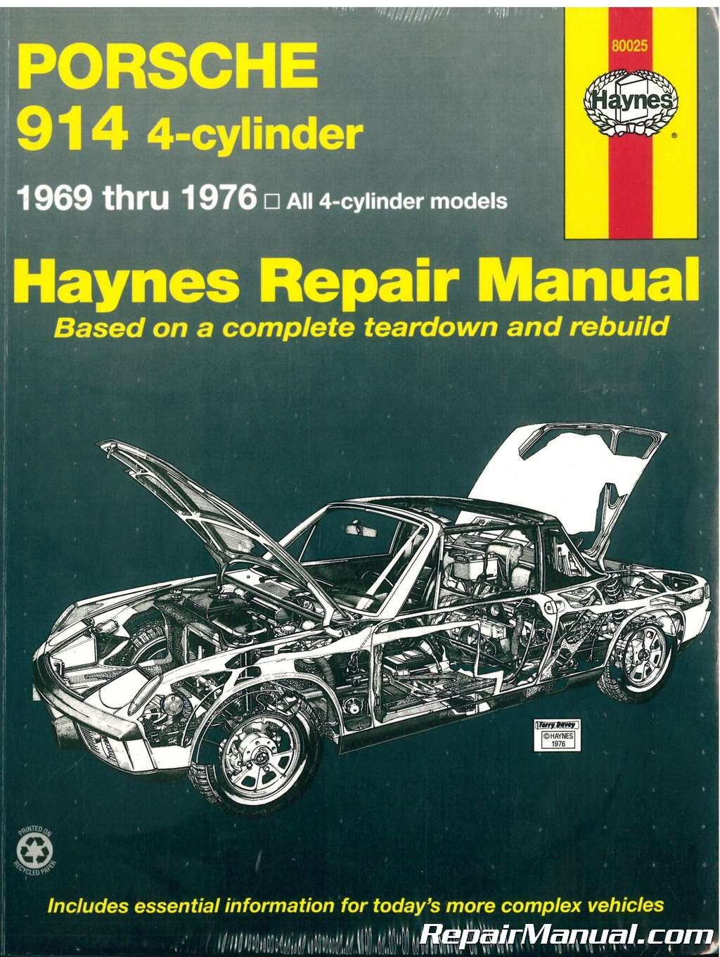 haynes porsche 914 4 cyl 1969 1976 auto repair manual rh repairmanual com Clark Forklift Repair Manual Scooter Repair Manual