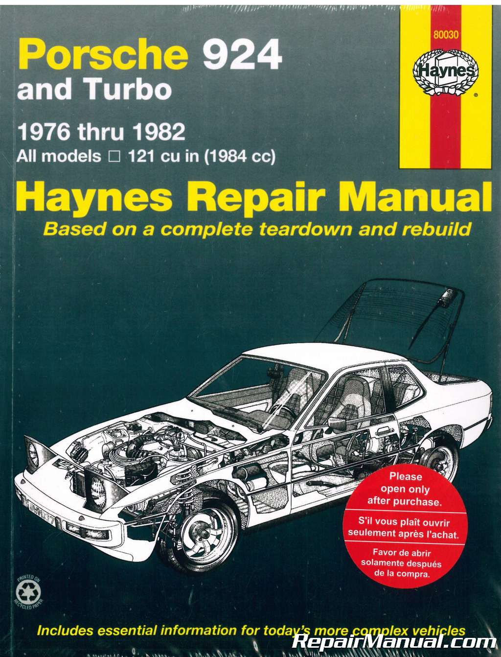 haynes porsche 924 1976 1982 auto repair manual rh repairmanual com Porsche Workshop Manual PDF Briggs and Stratton Repair Manual