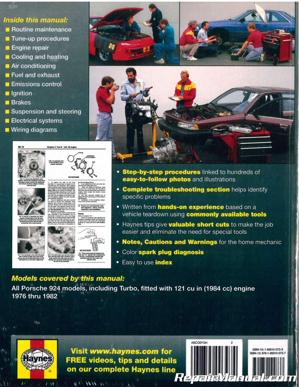 Haynes Porsche 924 1976 1982 Auto Repair Manual Engine Cooling Diagram
