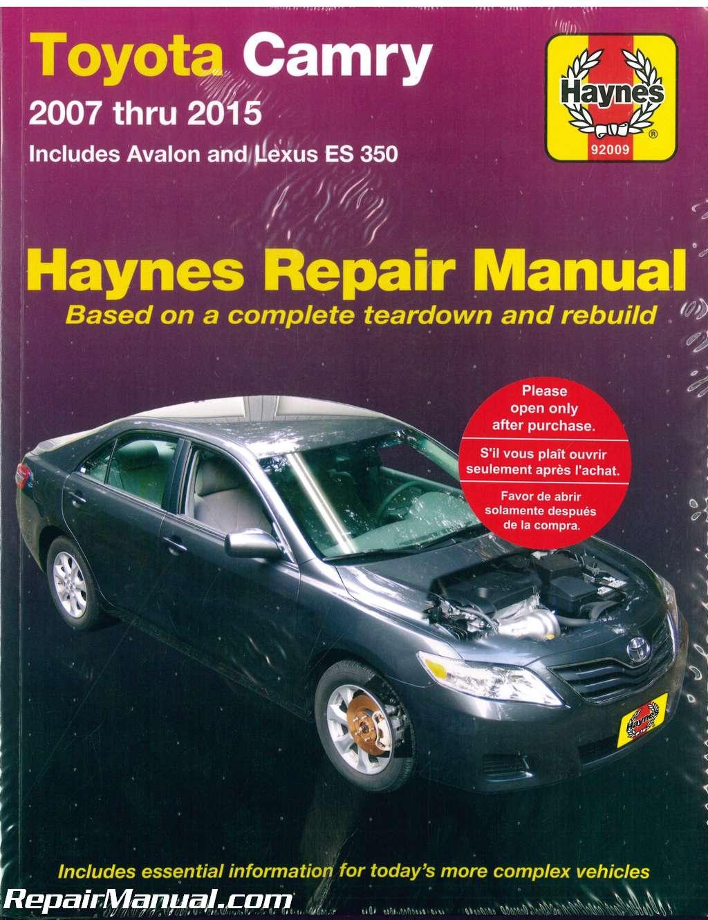 Haynes Toyota Camry Avalon Lexus Es 350 2007