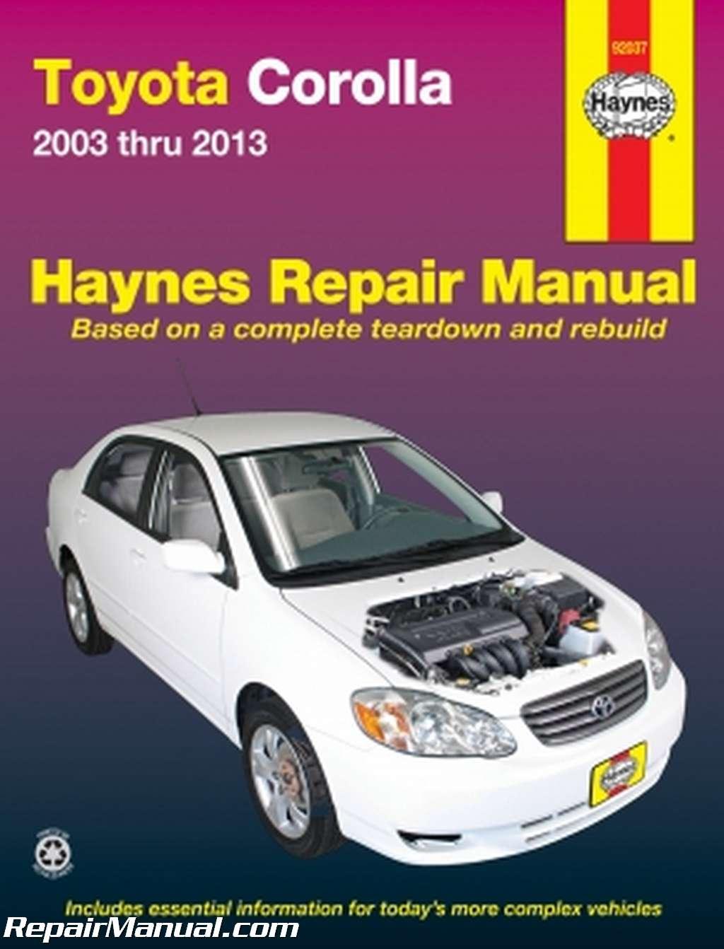Haynes Toyota Corolla 2003