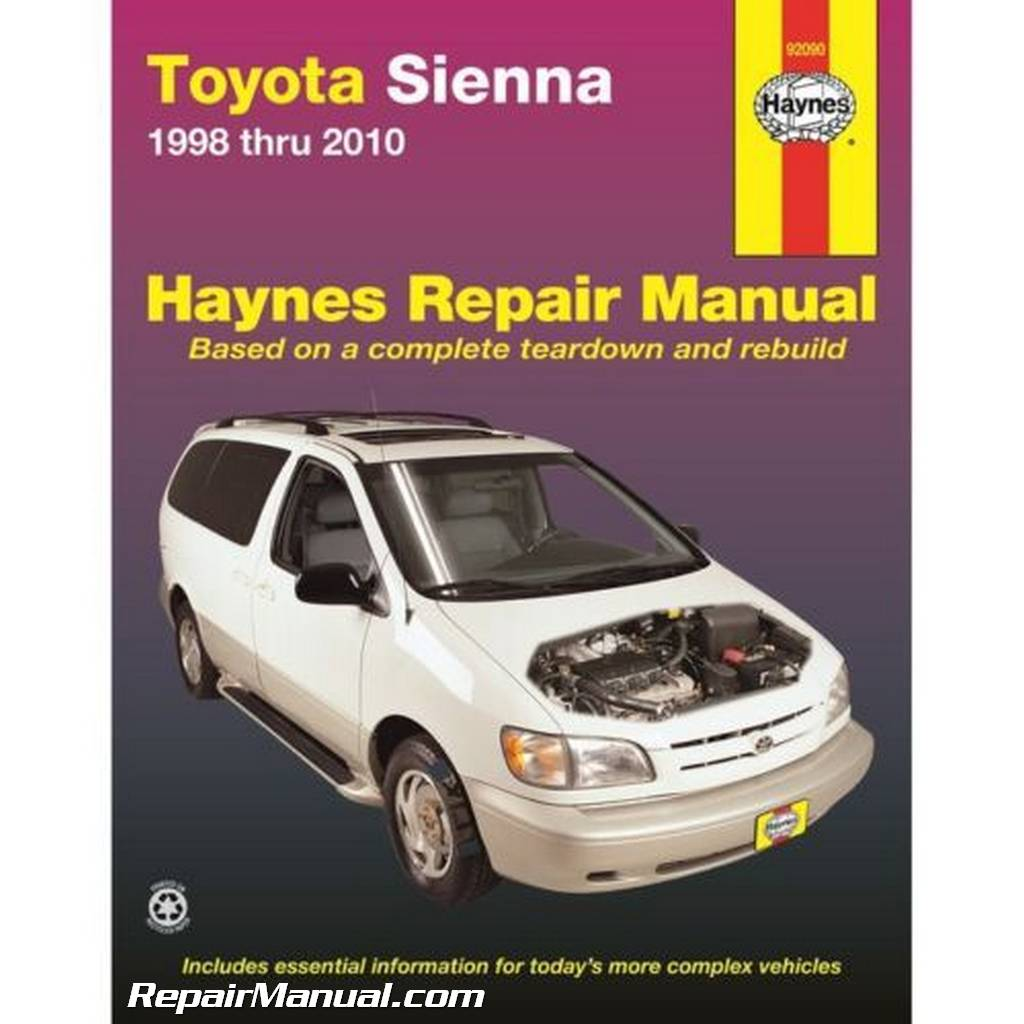 Haynes Toyota Sienna Auto Repair Manual on 2004 Toyota Sienna Parts Manual