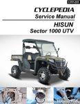 Hisun Sector 1000 UTV Printed Service Manual by Cyclepedia_Page_1