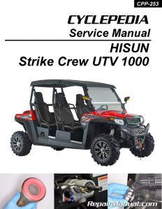 Hisun Strike 1000 Crew UTV Printed Service Manual by Cyclepedia