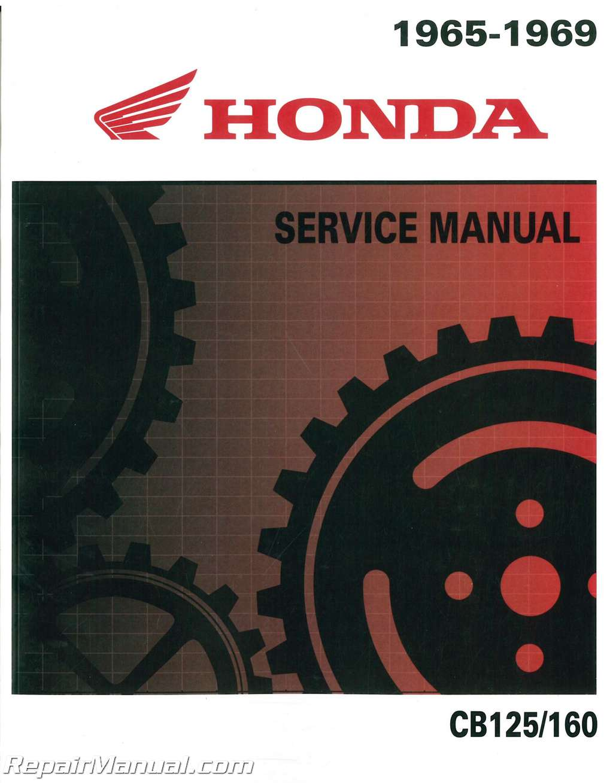Honda 1965 – 1969 CB125 CB160 Motorcycle Service Manual