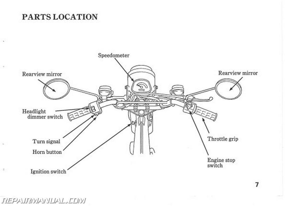 1993 honda ct70 motorcycle owners manual   31gan620