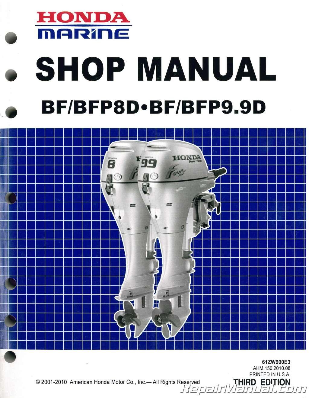 2001 honda bf9 9 shop manual