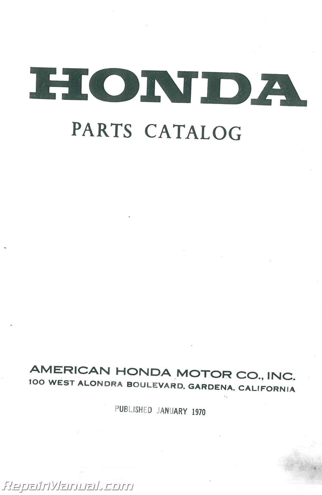 Honda Cb160 Motorcycle Parts Manual 1992 Shadow