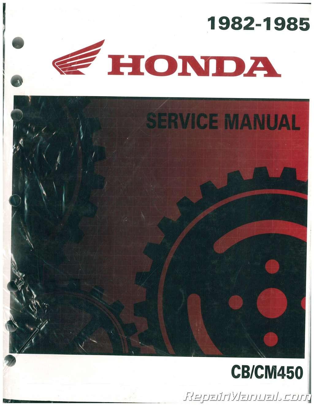 honda cb450 cm450 1982 1983 1985 motorcycle service manual rh repairmanual com 1974 Honda TL 250 1976 Honda Mini Bike