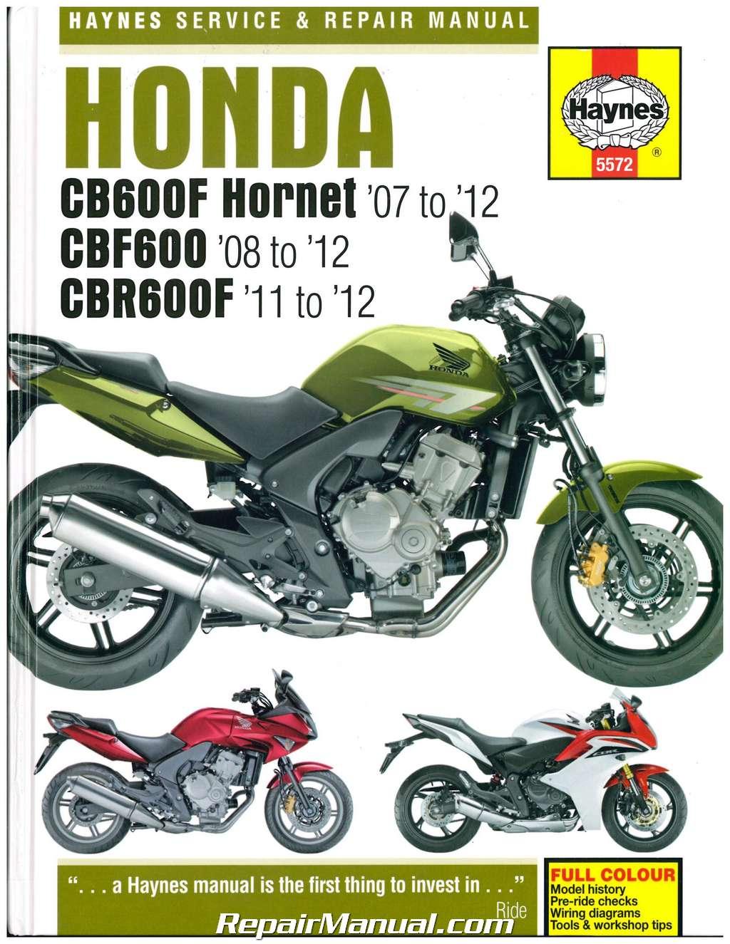 русский сервис мануал honda cbf 600