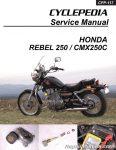 Honda CMX250C Rebel 250 Cyclepedia Printed Motorcycle Service Manual_Page_1