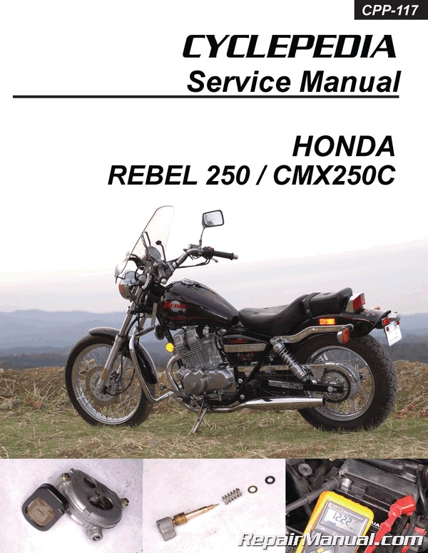 Honda Cmx250c Rebel 250 Cyclepedia Printed Motorcycle