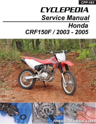 2003 – 2005 honda crf150f cyclepedia printed motorcycle service manual