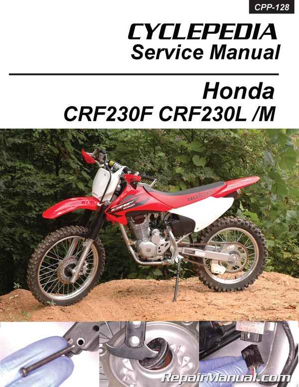 honda crf230 printed cyclepedia motorcycle service manual rh repairmanual com
