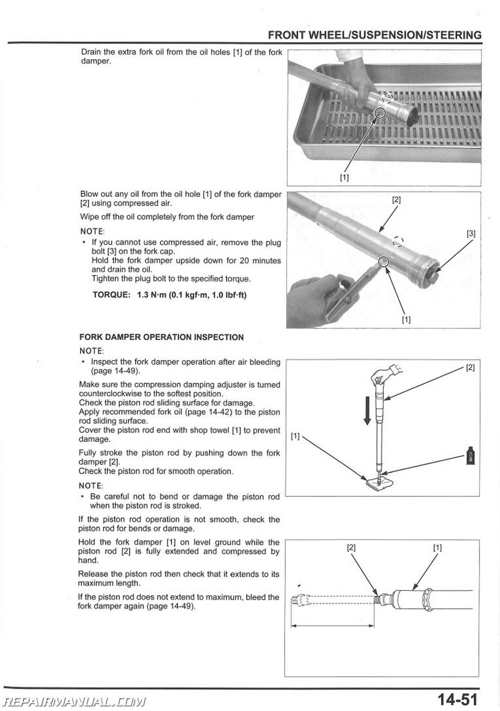 Honda Crf R Service Manual Page on Power Steering Check Valve