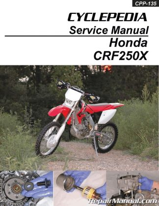 honda crf250x motorcycle manual service repair 2004 2009. Black Bedroom Furniture Sets. Home Design Ideas