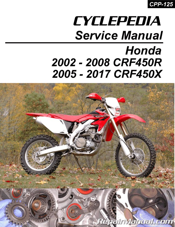 Honda CRF450R Honda CRF450X Print Motorcycle Service Manual by CYCLEPEDIA Press LLC honda motorcycle manuals repair manuals online honda motorcycles parts diagram at mifinder.co