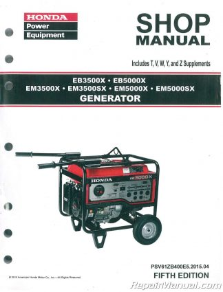 honda eu3000is generator shop manual rh repairmanual com honda eu 3000 owners manual honda eu3000is generator manual