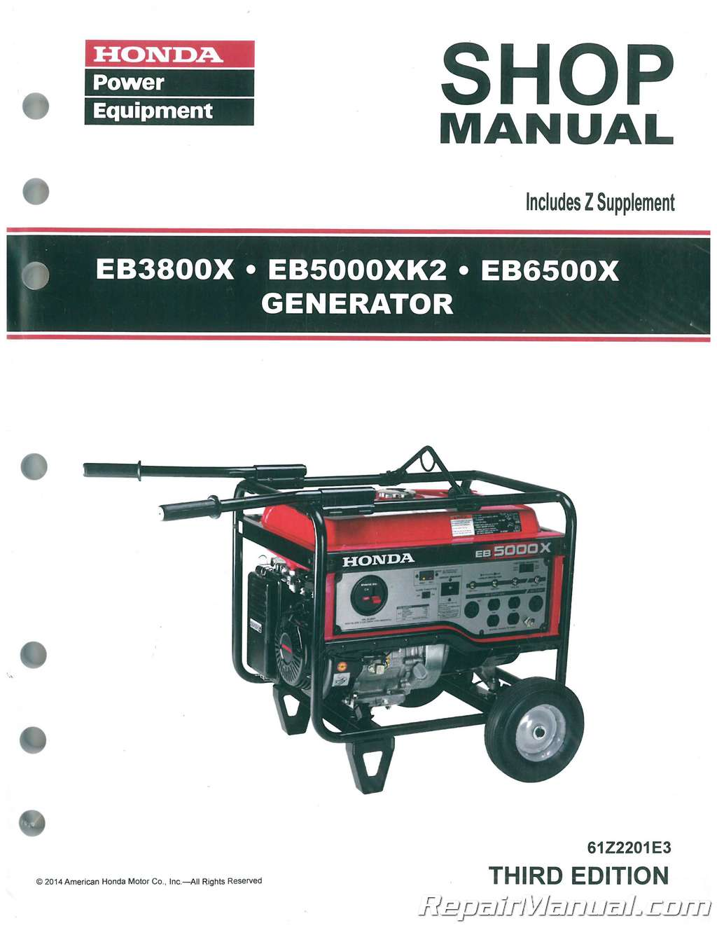 honda eb3800x eb5000xk2 eb6500x generator shop manual rh repairmanual com honda eb6500x parts manual honda eb6500 parts manual