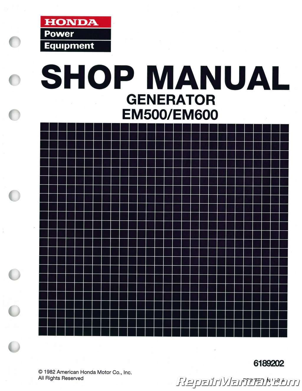 Honda Em500 Generator Shop Manual Blaupunkt 420 Bt Wiring Diagram And Em600 Rh Repairmanual Com Em 500 Carburetor Parts